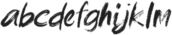 brushield otf (400) Font LOWERCASE