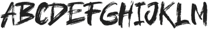 brushield ttf (400) Font UPPERCASE