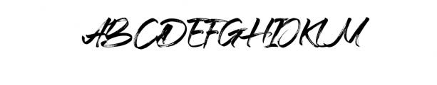 Braga.ttf Font UPPERCASE