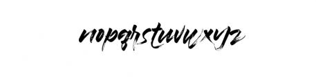 Braga.ttf Font LOWERCASE