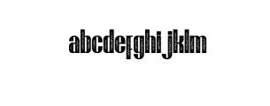 Brasham Font LOWERCASE