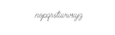 BraydenScriptRegular.otf Font LOWERCASE