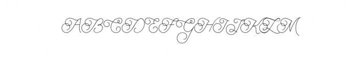 BraydenScriptThin.otf Font UPPERCASE