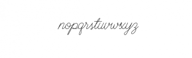 BraydenScriptThin.otf Font LOWERCASE