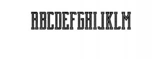 Brch Cutrough Font UPPERCASE
