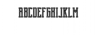 Brch Cutrough Font LOWERCASE