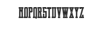 Brch Inline Font UPPERCASE