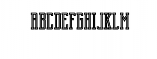 Brch Inline Font LOWERCASE