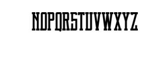 Brch Regular Font UPPERCASE