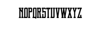 Brch Regular Font LOWERCASE