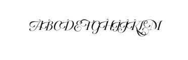 Breathe Neue Small.otf Font UPPERCASE