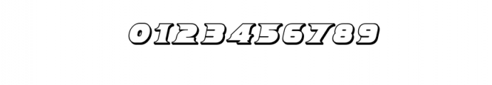 Breeze 3D Italic.ttf Font OTHER CHARS