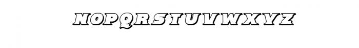 Breeze 3D Italic.ttf Font UPPERCASE