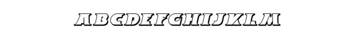 Breeze 3D Italic.ttf Font LOWERCASE