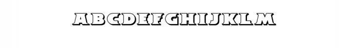 Breeze 3D.ttf Font UPPERCASE