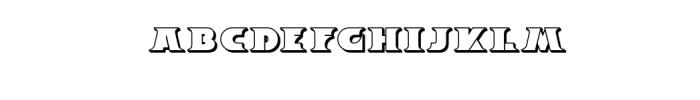 Breeze 3D.ttf Font LOWERCASE