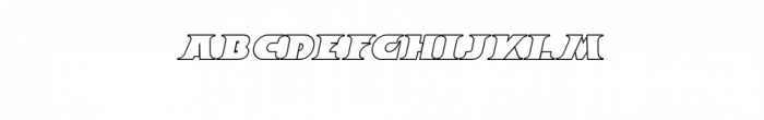 Breeze Outline Italic.ttf Font LOWERCASE