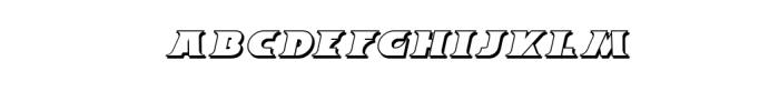 Breeze Shadow Italic.ttf Font LOWERCASE