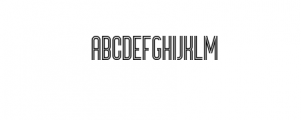 Bronco Typeface Font UPPERCASE
