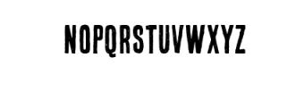 Bronx Shoes Custom Font Font UPPERCASE