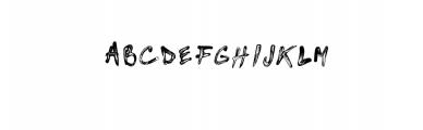 Brushed paint font Font UPPERCASE