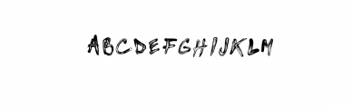Brushed paint font Font LOWERCASE