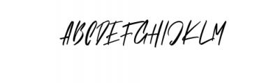 Brushelly.ttf Font UPPERCASE