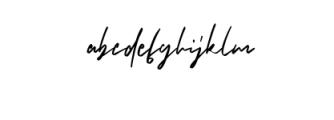Brushelly.ttf Font LOWERCASE