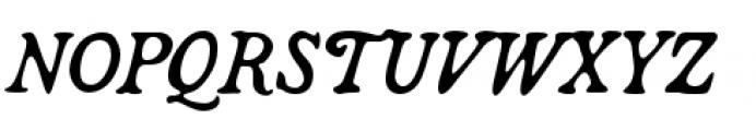 Broadsheet Italic Font UPPERCASE