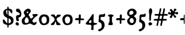 Broadsheet Regular Font OTHER CHARS