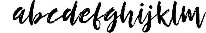 Breezy Beach - a dry brushed font! 3 Font LOWERCASE
