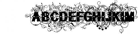 Bruce Flourished Font UPPERCASE