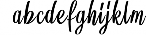 BrushWork TypeFace 1 Font LOWERCASE