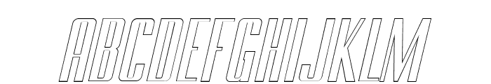 BRANCHE Outline Italic Font UPPERCASE