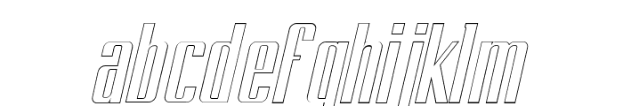 BRANCHE Outline Italic Font LOWERCASE