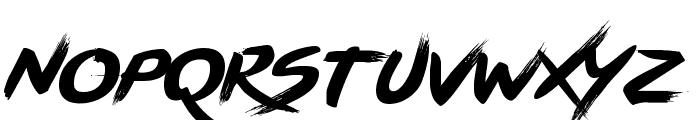 BRUSHSTRIKE Font LOWERCASE