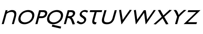 Bradbury-Oblique Font UPPERCASE