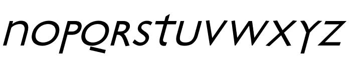 Bradbury-Oblique Font LOWERCASE