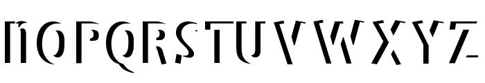 BradburysBoldShadow Font UPPERCASE