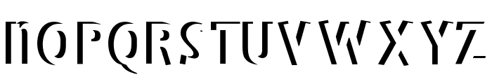 BradburysBoldShadow Font LOWERCASE