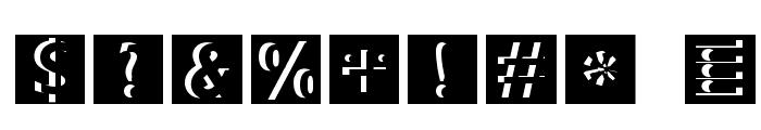 BradburysSquares Font OTHER CHARS