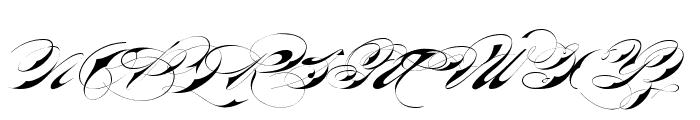 Bradstone-Parker Script Limited Free Version Font UPPERCASE