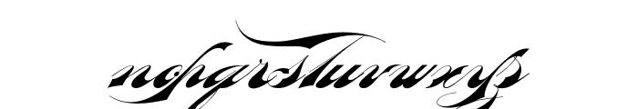 Bradstone-Parker Script Limited Free Version Font LOWERCASE