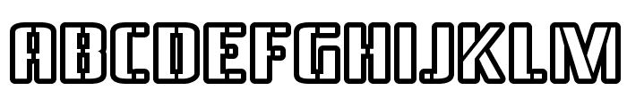 BraesideOutline-Regular Font LOWERCASE