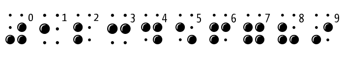 BrailleLatin Font OTHER CHARS