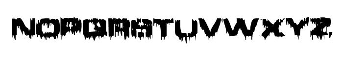 Brain Damage Font UPPERCASE