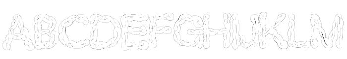 Brains Font UPPERCASE