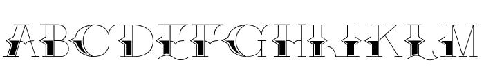 Brake Fluid Font UPPERCASE