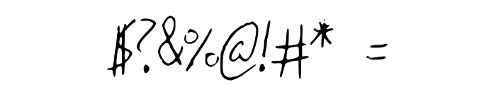 BrandonsHandwriting Font OTHER CHARS