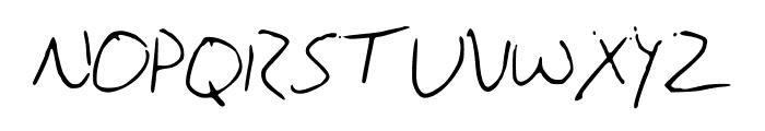BrandonsHandwriting Font UPPERCASE